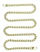 """47"""" DIY Iron Flat Chain Strap Handbag Chains Accessories Purse Straps Shoulder Cross Body Replacement Straps, with Metal Buckles (Champagn)"""