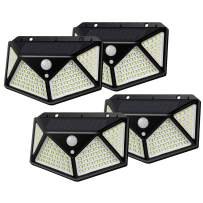 Motion Sensor Solar Outdoor Lights with 100 Super Bright Leds, 270° Wide Angle & 1000 High Lumens & Long Battery Life, Super Bright IP65 Weatherproof Wall Lights for Steps Yard Garage Porch Patio