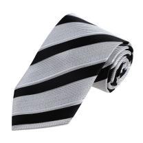 Dan Smith Tie for Men's Fashion Infinity Stripes Microfiber Neck Necktie