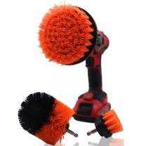 Tovia 3 Piece Detailing Drill Brush Set, All Purpose Power Scrubber Cleaning Brush Kit for Bathroom Surfaces, Grout, Floor, Tub, Shower, Tile, Corners, Kitchen, Automotive