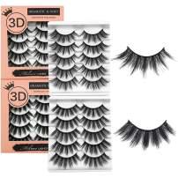 Mikiwi EyeLashes, 10 Pairs 2 Styles Dramatic Faux Mink Lashes, 3D High Volume Eyelashes Fluffy False Lashes