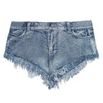 JFEELE Women's Juniors High Waisted Shorts Raw Hem Denim Jeans with Pockets