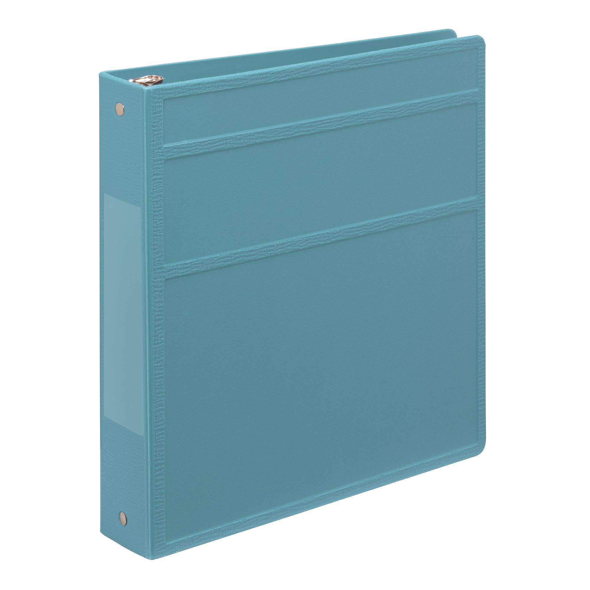 Carstens 1.5- Inch Heavy Duty 3-Ring Binder - Side Opening, Powder Blue