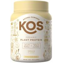 KOS Organic Plant Based Protein Powder – Raw Organic Vegan Protein Blend, 1.3 Pound, 15 Servings (Vanilla)
