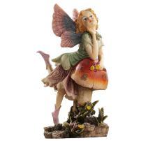 Design Toscano EU4932  The Fairy Dust Garden Mushroom Statue Collection, Twin,full color