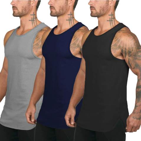 DEMOZU Mens Athletic Quick-Dry Sports Tank Top for Running Training Gym Fitness Bodybuilding Jogging