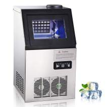WeChef Portable Commercial Countertop Ice Maker Machine 100lbs 22lbs Storage 300W Ice Cube Making Stainless Restaurant