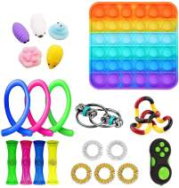 Elippeo Simple Dimple Fidget Toy Set, Stress Relief and Anti-Anxiety Tools, Fidgeting Game Kill Time, Sensory Toys Pack Cheap for Kids Adults