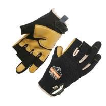 ProFlex 720LTR Framer Work Glove, Leather-Reinforced Palm, High Dexterity, Medium, Black