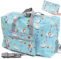 Foldable Travel Duffle Bag for Women Girls Large Cute Floral Weekender Overnight Carry On Bag for Kids Checked Luggage Bag (Z-Cute Sheep)