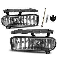 AUTOSAVER88 Fog Lights Compatible with 02-06 Cadillac Escalade 02-06 Cadillac Escalade EXT 03-06 Cadillac Escalade ESV Driving Bumper Lamps Kit (OE Clear Lens) (ATFL1017)