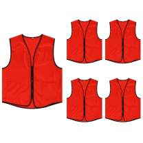 TOPTIE Supermarket Apron Zipper Vest for Clerk Uniform Vest(5 Packs)