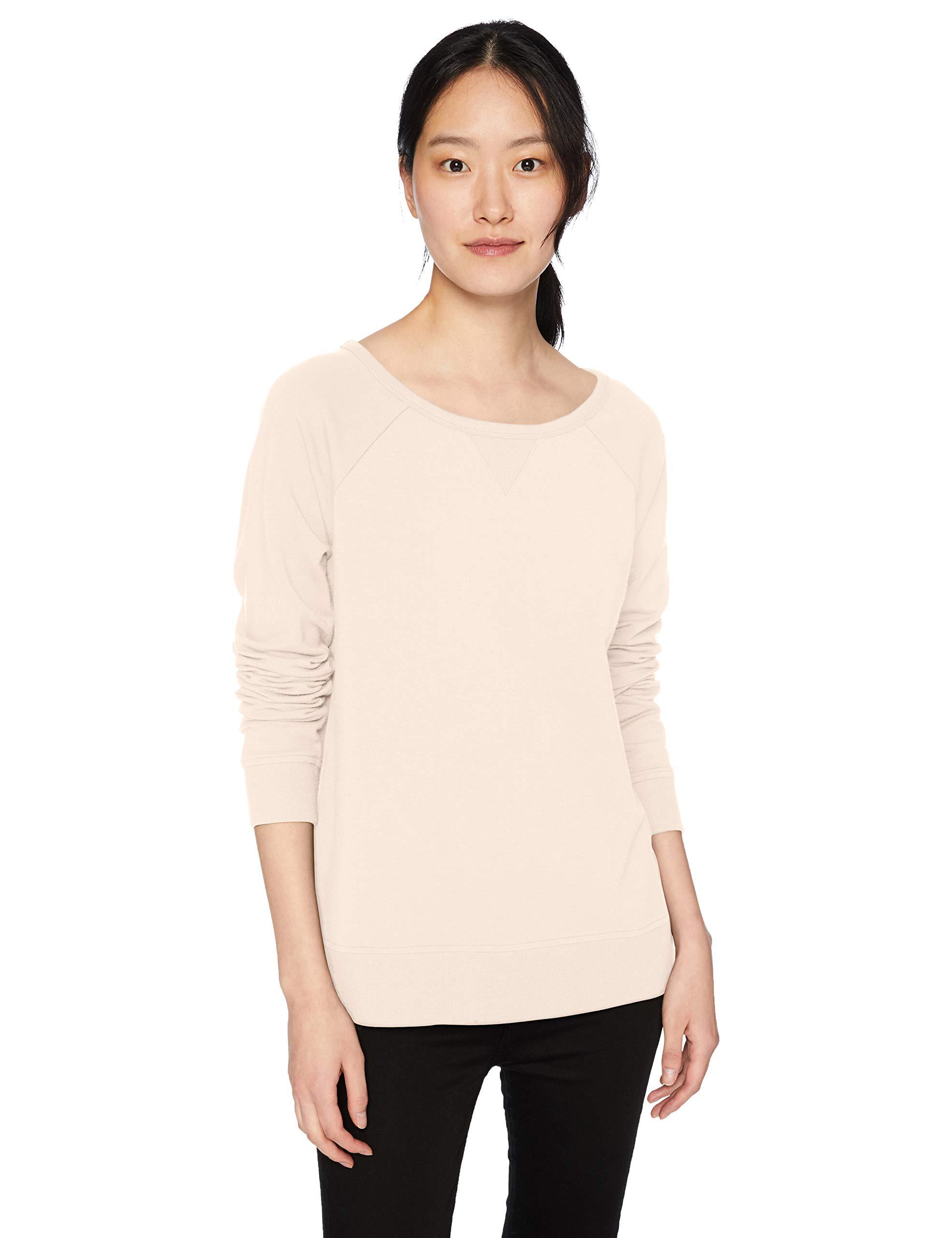 Amazon Brand - Daily Ritual Women's Terry Cotton and Modal High-Low Sweatshirt