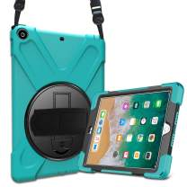 ProCase iPad 9.7 Case 2018/2017, Rugged Heavy Duty Shockproof 360 Degree Rotatable Kickstand Protective Cover Case for Apple iPad 6th 5th Gen 9.7 Inch -Teal