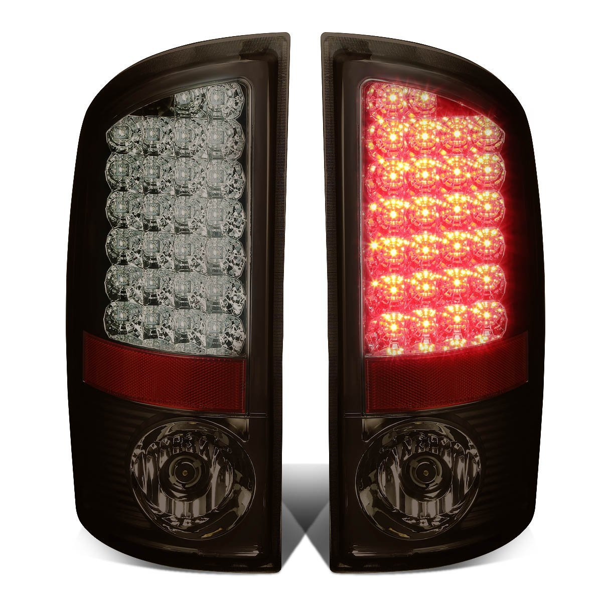 DNA Motoring TL-DRAM05-LED-CH-SM Tail Light Assembly, Driver and Passenger Side