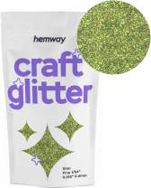 "Hemway Craft Glitter 100g 3.5oz FINE 1/64"" 0.015"" 0.4MM (Lime Green Holographic)"