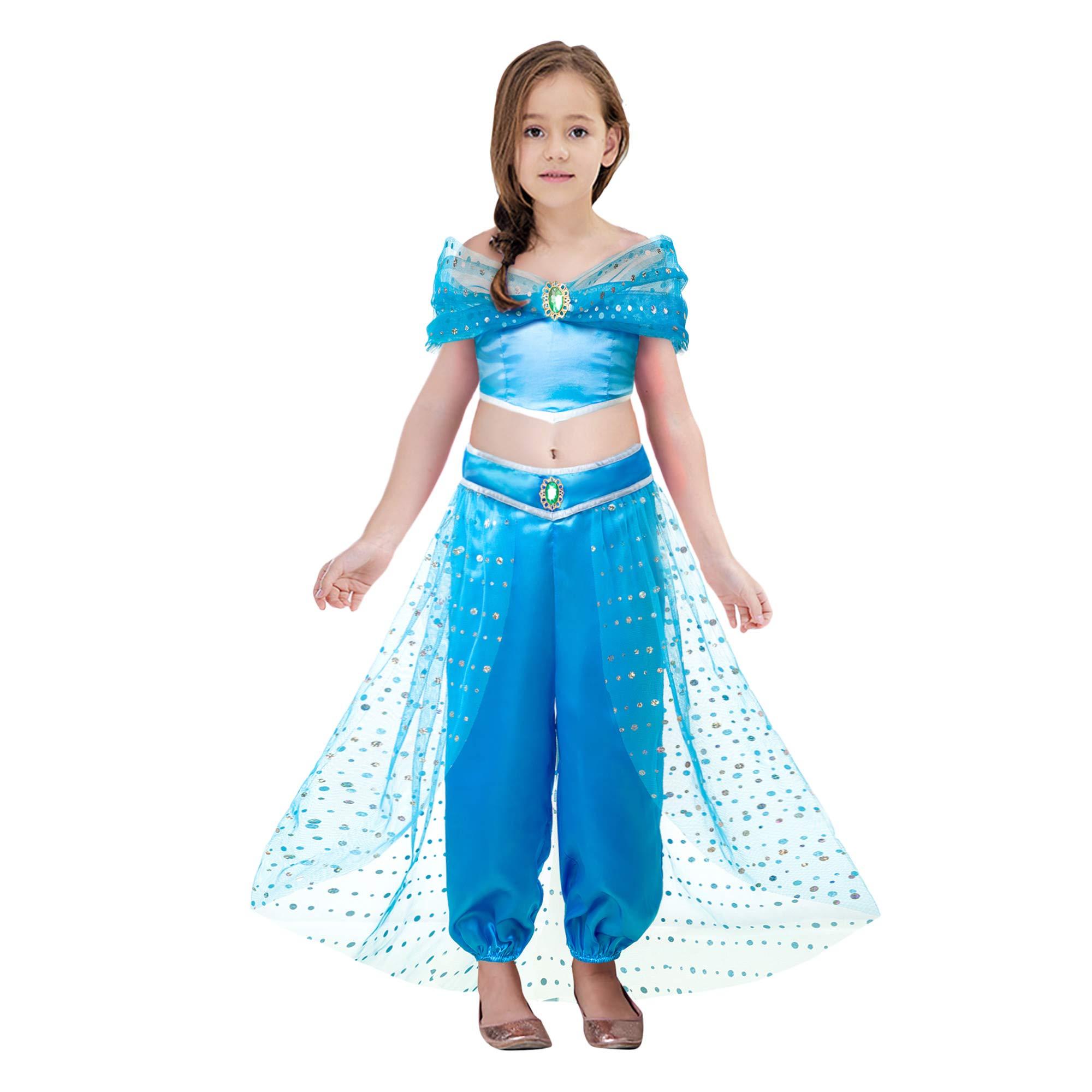 Pettigirl Girls Arabian Sequin Pant Set Princess Costume