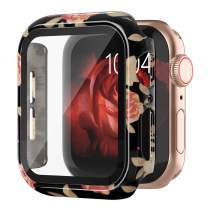Goosehill Compatible Apple Watch Case 38mm Series 3/2/1 with Tempered Glass Screen Protector, Full Cover Ultra-Thin Hard PC Bumper Fashion Leopard Protective Case for Women Girls iWatch
