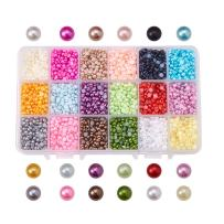PandaHall Elite 1 Box ABS Acrylic Half Round Flat Back Imitation Pearl Cabochon Diameter 4mm 18 Colors for Jewelry Craft Making