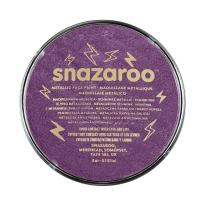 Snazaroo Metallic Face and Body Paint, 18ml, Electric purple/violet, 6 Fl Oz
