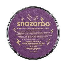 Snazaroo Metallic Face and Body Paint, 18ml, Electric purple/violet, 6 Fl Oz
