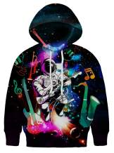 Asylvain Teen Boys Girls Hoodies with 3D Print Graphic Colorful Deisgn Sweatshirt for Kids with Pocket, 5-16 Years