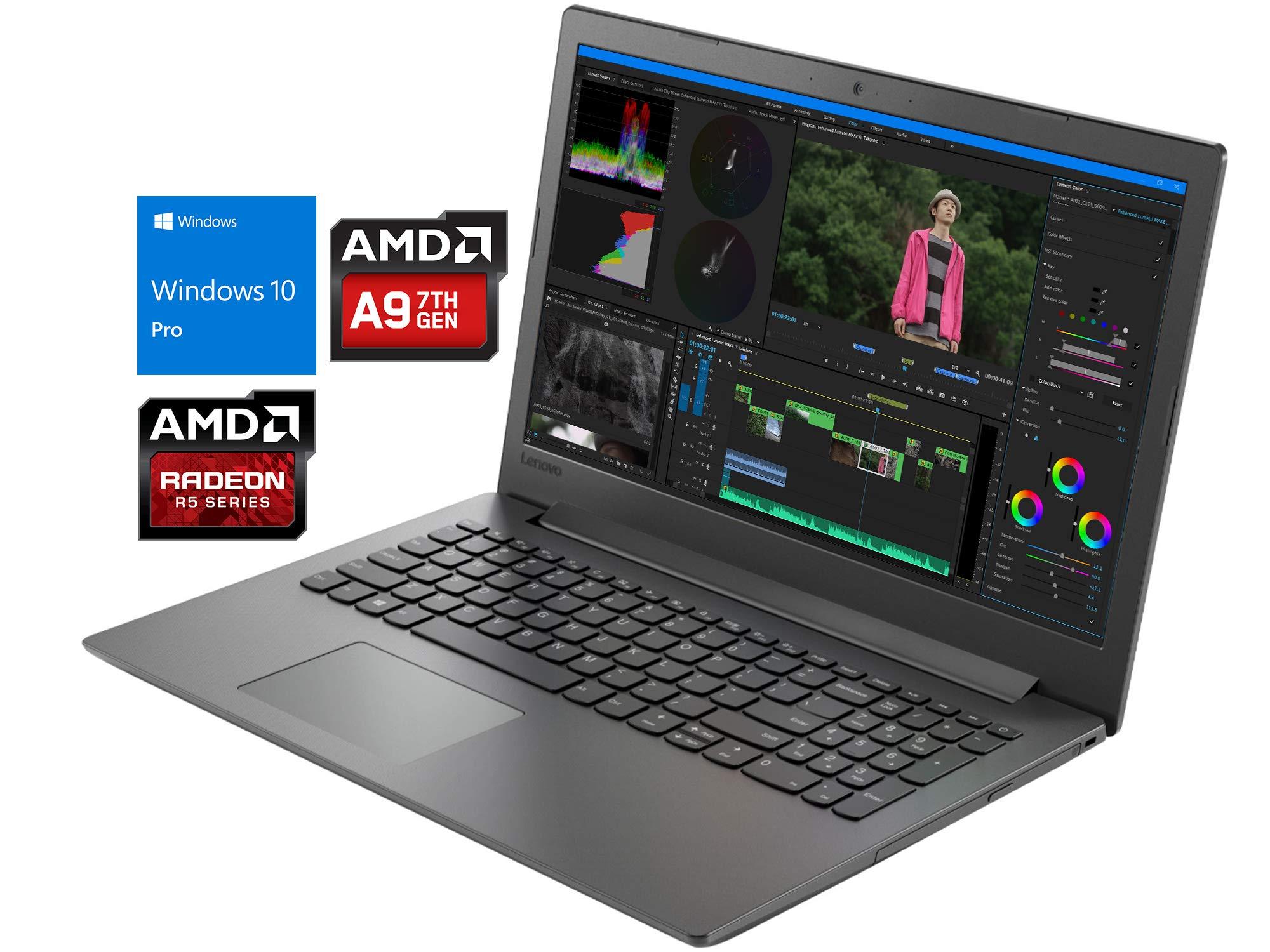 "Lenovo IdeaPad 130 Notebook, 15.6"" HD, AMD Dual-Core A9-9425 Upto 3.7GHz, DVD-RW, HDMI, Card Reader, Wi-Fi, Bluetooth, Windows 10 S (4GB RAM | 128GB SSD | Windows 10 Pro)."