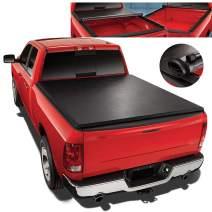 Soft Roll-Up Tonneau Cover Kit Replacement for 02-18 Dodge Ram Truck 6.5Ft Short Bed Fleetside