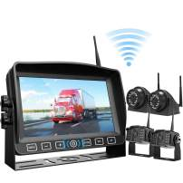 """Wireless Backup Camera Kit 7"""" Monitor W/Upgraded Recorder Backing Up for RV Trailer Truck Camper Bus, Digital HD 1080P Waterproof Front Rear Side View Camera Extra Stable Signal DVR System Xroose TW4"""