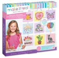 Make It Real - Quilling Creations. DIY Quilling Kit for Girls. Quilling Paper Arts and Crafts Kit Guides Kids to Create Their Own Mosaic Masterpieces using Decorative Templates, Gem Stickers and More