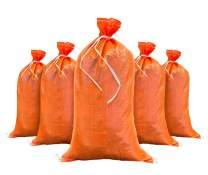 Sandbags for Flooding - Size: 14 Inch x 26 Inch - Orange - Sand Bag - Flood Water Barrier - Water Curb - Tent Store Bags by Sandbaggy (100 Orange Sandbags)