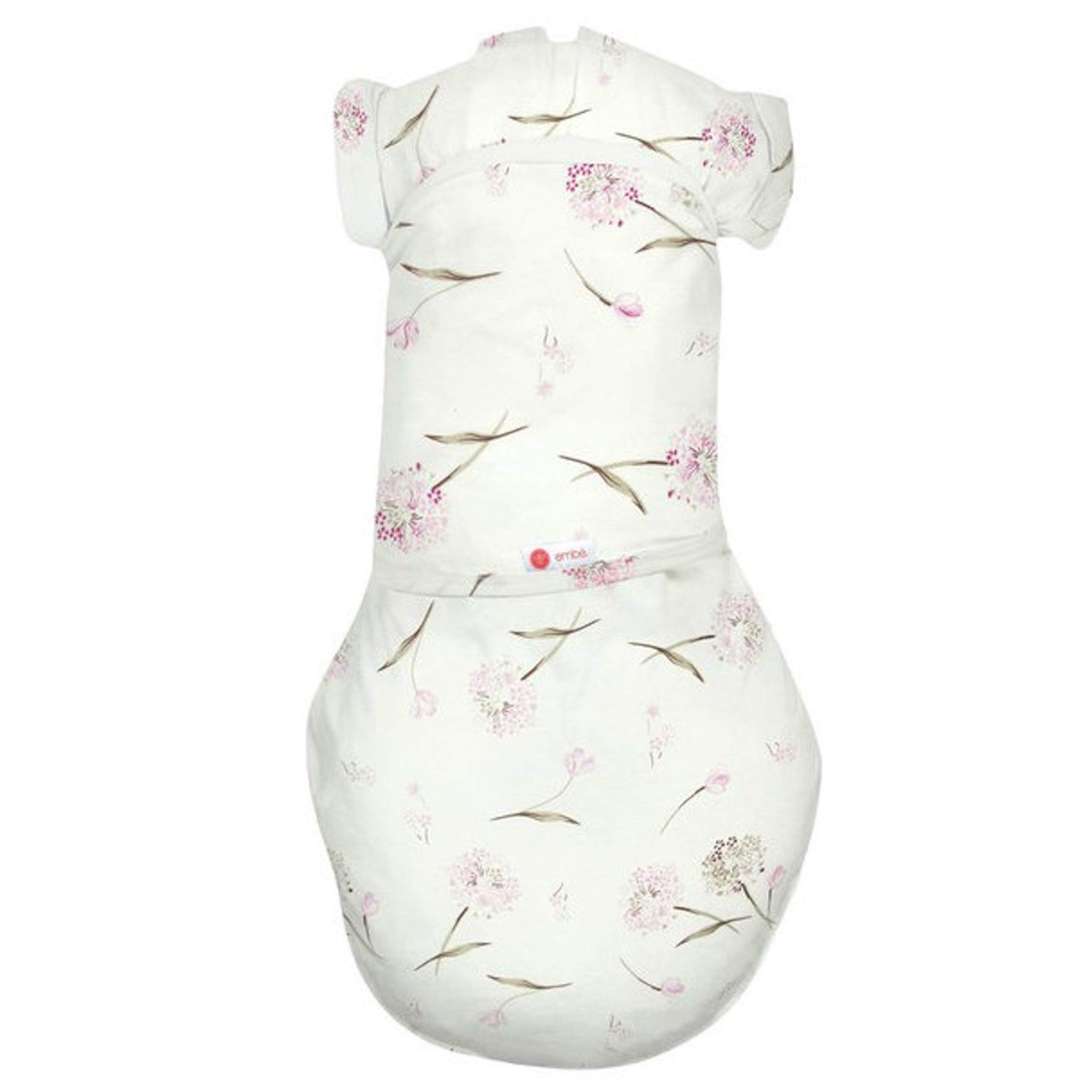 embé 2-Way Transition Swaddle Sack, 12-18 lbs, Diaper Change w/o Unswaddling, Arms in and Out, Legs in and Out Design, Warm Up or Cool Down 100% Cotton, 3-6 Months (Pink Clustered Flowers)