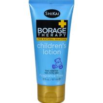 ShiKai - Borage Therapy Children's Lotion, A Safe Plant-Based Alternative For Dry Skin, Effective for Cradle Cap, Eczema & Itchy Skin, Non-Greasy, For Ages 6 Months & Up (Fragrance-Free, 3 Ounces)
