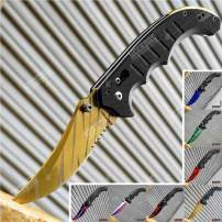 KCCEDGE BEST CUTLERY SOURCE EDC Pocket Knife Camping Accessories Razor Sharp Edge Manual Open Folding Knife for Camping Gear Survival Kit Tactical Knife 51374