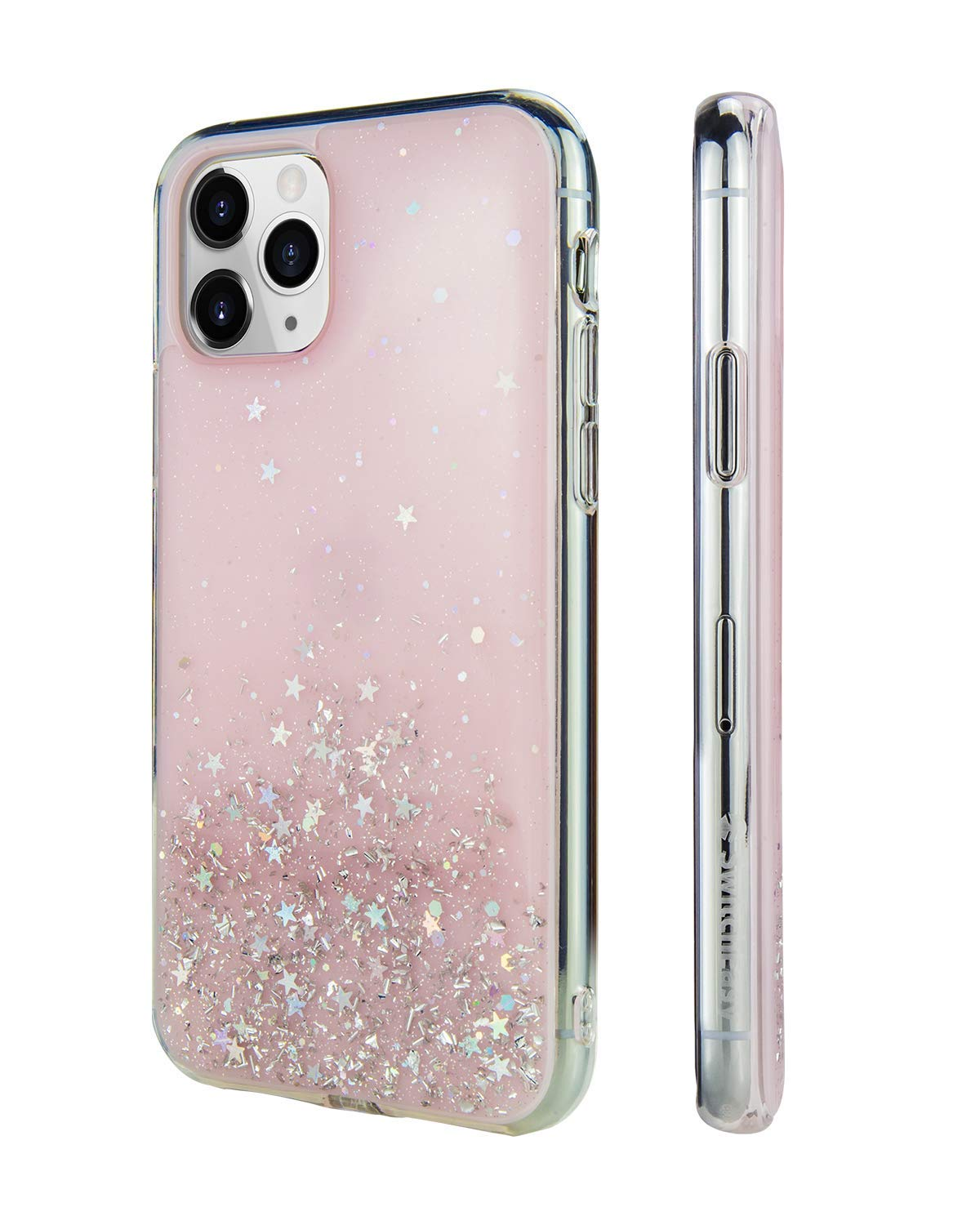 """iPhone 11 Clear Case - STARFIELD Luxury Fashion Glitter Hard Case Transparent Clear Shiny Bling Sparkling Protective Cover for Girls (Transparent Rose, 2019 iPhone 6.1"""")"""