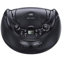 sAudio Portable Stereo CD Player, CD Boombox with AM/FM Radio and Audio Input Jack