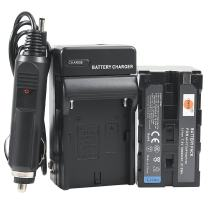 DSTE Replacement for NP-F750 Battery + DC01 Travel and Car Charger Adapter Compatible Sony CCD-TRV215 CCD-TR917 CCD-TR315 HDR-FX1000 HDR-FX7 HVR-V1U Z7U Z5U Camera as NP-F730 NP-F770