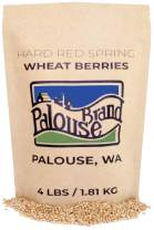 Hard Red Spring Wheat Berries • Non-GMO Project Verified • 4 LBS • 100% Non-Irradiated • Certified Kosher Parve • USA Grown • Field Traced • Resealable Kraft Bag