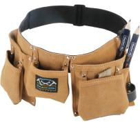Real Leather Kids Tool Belt for Kids Woodworking Children Carpentry Carpenter Tool Apron for Boys and Girls Young Builders Gift Fits Waist Size 21 to 28 inches
