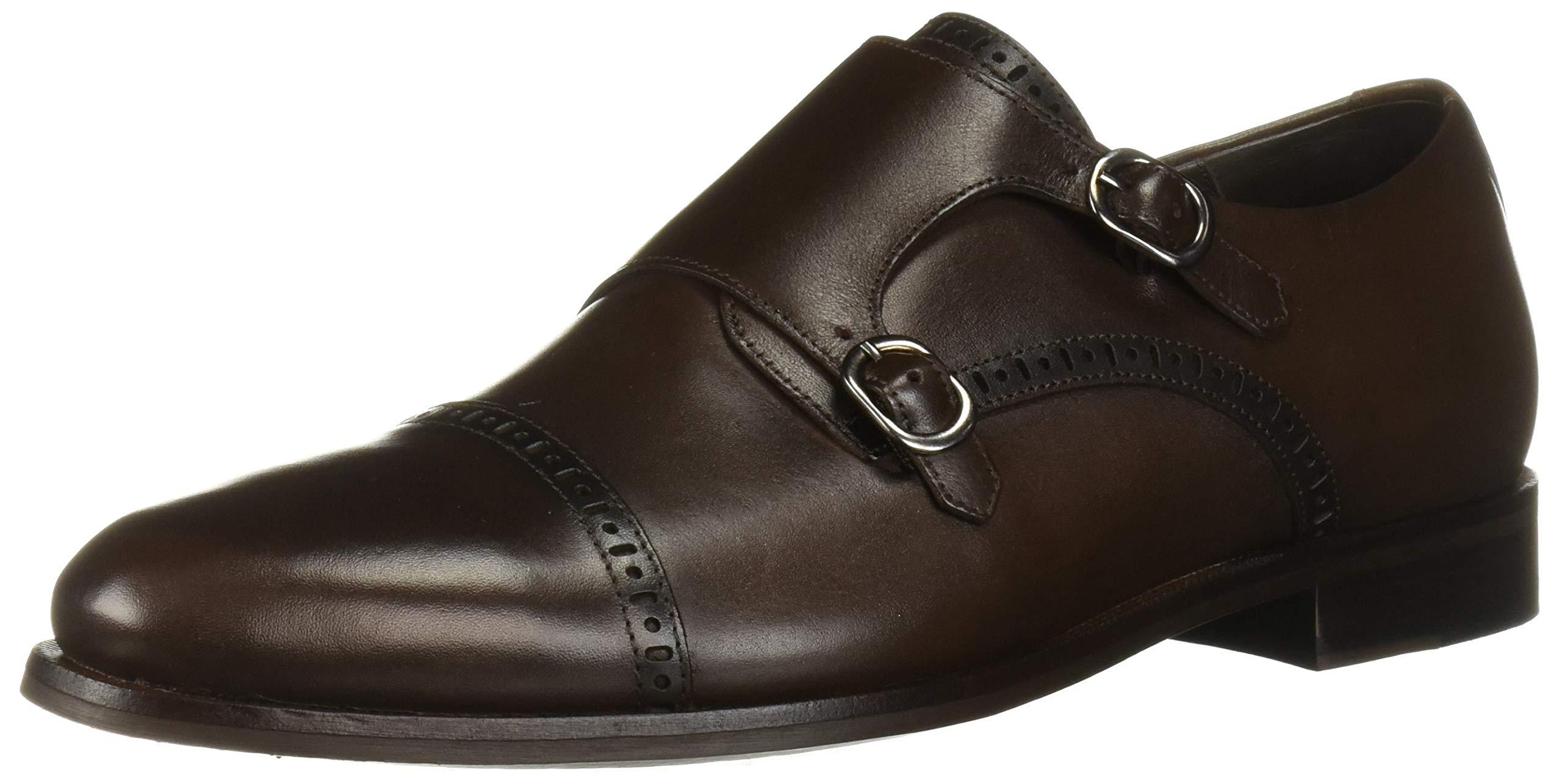 MARC JOSEPH NEW YORK Mens Leather Double Monk Dress Shoe Oxford