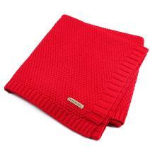 SOBOWO Baby Swaddle Blanket, Babies Knit Soft Wrap Stroller Blankets for Infant Girls Boys Cribs, Nursing (Red)