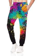 Belovecol Men Women 3D Casual Active Sports Joggers Pants Trousers Sweatpants