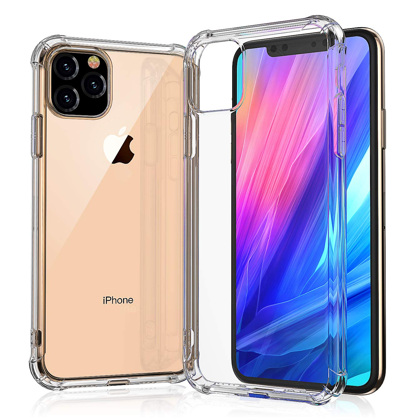 Chirano iPhone 11 Pro Max Case, Clear, Only for 6.5 inch iPhone 11 Pro Max 2019, 4 Corners Shockproof Protection