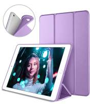 DTTO iPad Air 2 Case (2014 Released), Ultra Slim Lightweight Smart Case Trifold Stand with Flexible Soft TPU Back Cover for Apple iPad Air 2 (Model A1566/A1567), Purple