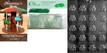 """Cybrtrayd """"Bite Size Shamrocks"""" Patriotic Chocolate Candy Mold with Chocolatier's Bundle, Includes 25 Cello Bags, 25 Green Twist Ties and Chocolatier's Guide"""