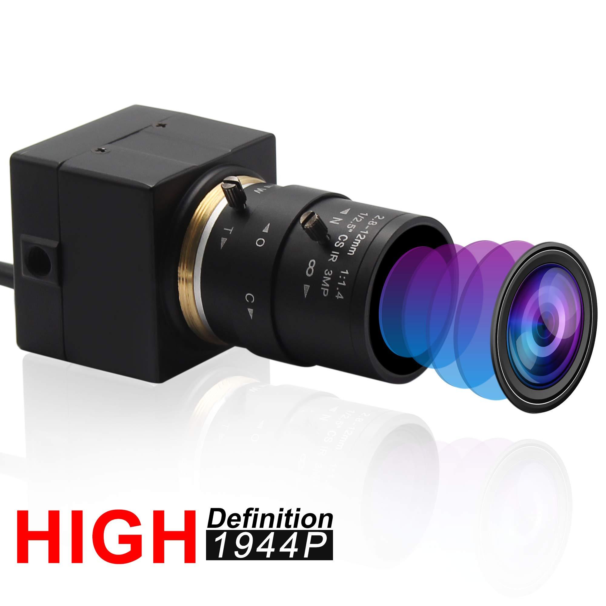 Varifocal Lens USB Webcam Mini Camera with Case 5 Megapixel 2.8-12mm Aptina MI5100 USB with Cameras,High Definition 2592X1944@15fps Webcam,USB2.0 Computer Camera with Box Support Most OS/UVC Protocol
