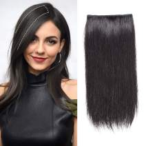 """Isheeny Natural Black Clip in Hair Pieces for Women to Add Volume, Fullness and Thickness, Make the Hair Look More Puffy 8"""""""