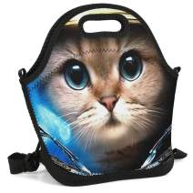 Mens/Womens/Kids Cute Cat Lunch Tote Bag Insulated Lunch Box for Camping/School/Picnic/Boating/Beach