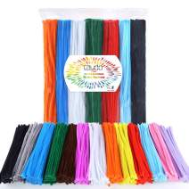Caydo 1300 Pieces Assorted Pipe Cleaners in 13 Colors of Value Pack for DIY, Art Creative Crafts Decorations (6 mm x 12 inch)