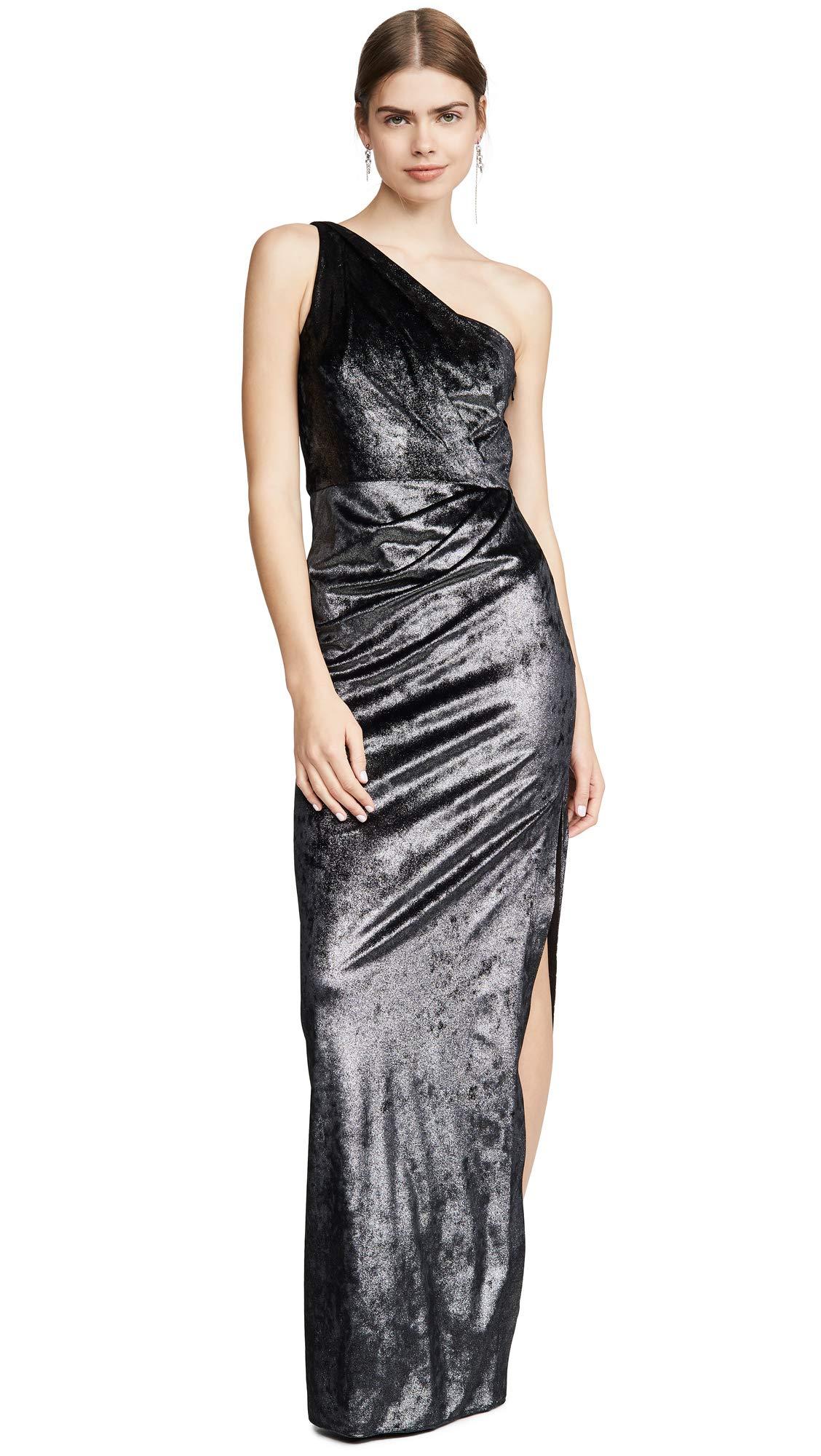Marchesa Notte Women S One Shoulder Draped Gown